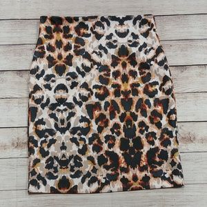 NY & Co Leopard Print Pencil Skirt